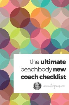 new beachbody coach checklist