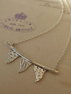 Silver Bunting Handmade Necklace by BluebirdJewellery on Etsy