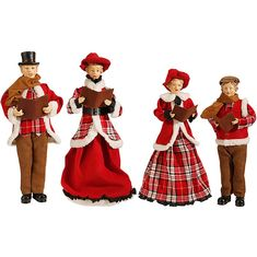 Set of 4 Dickens Family Christmas Carolers in Corduroy and Plaid 18 to 16 Inches High - Large Christmas Display Christmas Store, Christmas Carol, Outdoor Christmas, Family Christmas, Vintage Christmas, Xmas, Unique Christmas Decorations, Christmas Tree Themes, Christmas Ideas