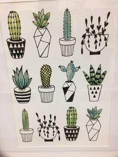 T w a a y y * * * cactus doodle, cactus art, floral doodle, cactus drawing. Succulents Drawing, Cactus Drawing, Plant Drawing, Cactus Art, Cactus Doodle, Floral Doodle, Art Floral, Cactus Plants, Cactus Decor