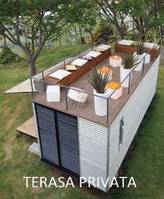 Plans To Design And Build A Container Home terasa-amenajata-pe-acoperisul-casei-de-vacanta-din-container.jpg - Who Else Wants Simple Step-By-Step Plans To Design And Build A Container Home From Scratch? Container Home Designs, Container Bar, Sea Containers, Container Gardening, Tiny Container House, Sea Container Homes, Storage Container Homes, Building A Container Home, Container Buildings