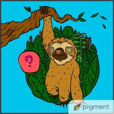 Happy International Sloth Day! Color our free coloring page This was colored by @artzoomsby on Twitter  Animal Coloring Pages, Free Coloring Pages, Pigment Coloring, Sloth, Twitter, Happy, Animals, Animales, Free Colouring Pages