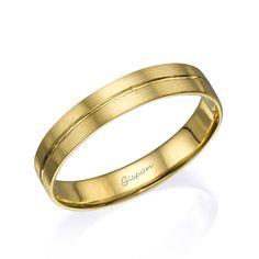 Yellow Gold Wedding Ring Wedding band Classic by Gispandesigns