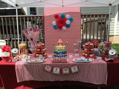Jessica T's Birthday / Circus / Carnival - Photo Gallery at Catch My Party Carnival Baby Showers, Circus Carnival Party, Carnival Birthday Parties, Carnival Themes, 3rd Birthday, Party Themes, Party Ideas, Housekeeping, Ava