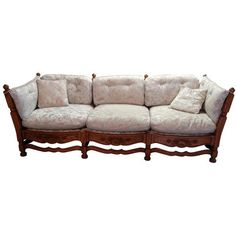 Image of 1930s Jamestown Lounge Feudal Oak Sofa