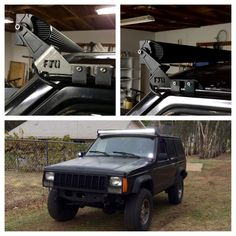 If you have an XJ and want to mount a 50in light bar these are your best bet! Price dropped to $50 for blackfriday!   Farmer Johnson Off-Road - 50in XJ Light Bar Brackets, $50.00 (http://www.farmerjohnsonoffroad.com/50in-xj-light-bar-brackets/)