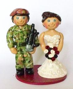 Ama Aqua Cake Toppers Military Wedding Cake Topper
