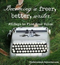 Become a freer, better writer.