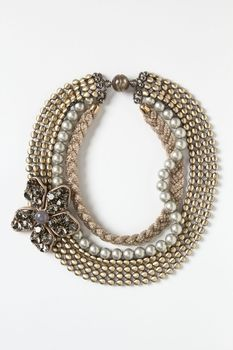 Pewter Bloom Layered Choker in October 2012 from Anthropologie