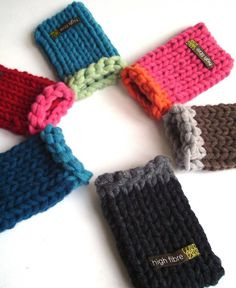 hand knitted phone cover by high fibre   notonthehighstreet.com