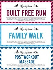 I LOVE these clever push present ideas for FitMoms and these FREE printable coupons are adorable!   Moms Little Running Buddy