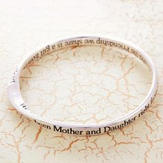 mother and daughter message bangle by lovethelinks | notonthehighstreet.com
