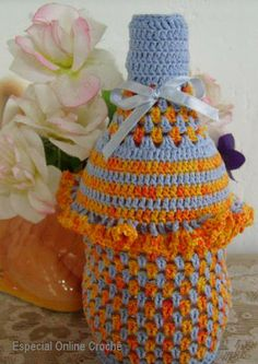 Cover crochet for pet bottle