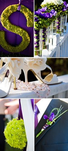 Purple + Green wedding in North Carolina