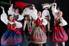 """Podhale folk costume - Zespół Tańca Ludowego """"Harnam"""", Poland"""