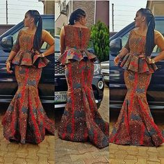 Stunning Peplum Ankara Skirt and Blouse Styles for You.Stunning Peplum Ankara Skirt and Blouse Styles for You Latest African Fashion Dresses, African Print Dresses, African Print Fashion, African Dress, Ankara Fashion, African Prints, African Clothes, African Attire, African Wear
