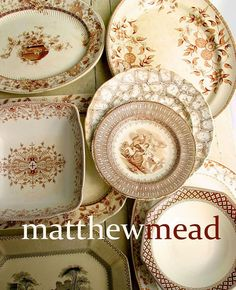 I love china that doesn't match perfectly. And I LOVE brown English Transferware. Vintage Dinnerware, Vintage Plates, Vintage China, Vintage Tableware, Antique Dishes, Vintage Dishes, Antique Glassware, Emma Bridgewater, White Dishes