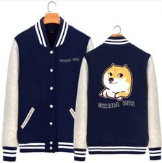 Shiba Inu doge baseball jacket for men dog sweatshirt XXXL