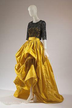 Oscar de la Renta Silk taffeta gown with black Guipure lace bodice, spring 2012 by Museum at FIT, via Flickr
