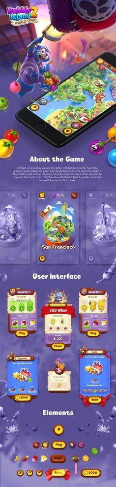 Ознакомьтесь с этим проектом @Behance: «Bubble Island 2 - User Interface» https://www.behance.net/gallery/52427475/Bubble-Island-2-User-Interface