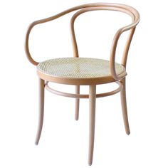 TON Armchair 30, cane - natural beech Dining Table Chairs, Side Chairs, Dining Room, Ton Chair, Modern Furniture, Furniture Design, Deco, Furniture Factory, Color Guard