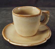 Old Frankoma - Plainsman Demitasse Cup & Saucer- Ada Clay
