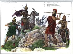 A skirmish between Greek & Persian forces ~ from the Montvert Achemenid army book