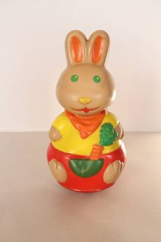 Roly poly rabbit flexible roly poly vintage roly poly toy