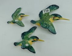 Collectors & General Auction – Lot 710 – Beswick Kingfisher wall plaques 729-1, 729-2 and 729-3 (3) (all restored). Sold for £70.00