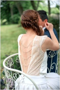 PERFECT!!!!!!!! French wedding dress | Image by Elena Joland Photography