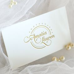 Elegant Wedding Logo Custom Premade logo Photography logo &