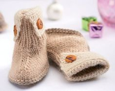 Free knitting pattern for Marley Baby Boots and more booties knitting patterns