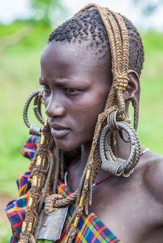 Mursi woman . Ethiopia