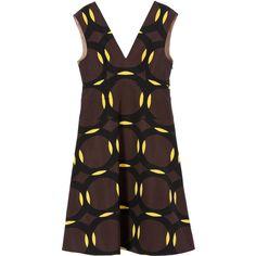 Sleeveless dress Marni ($685) ❤ liked on Polyvore