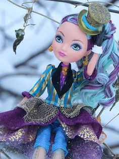 Ever After High Madeline Hatter Doll Outside in Winter | Flickr - Photo Sharing!