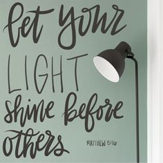 """""""In the same way, let your light shine before people, so that they can see your good deeds and give honor to your Father in heaven."""" Matthew 5:16 NET http://bible.com/107/mat.5.16.net"""