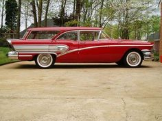 1958 Buick Special Estate Wagon I remember receiving a toy version of this car for my birthday. I loved it! Buick Wagon, Buick Cars, Cadillac, Vintage Cars, Antique Cars, Station Wagon Cars, Buick Century, Gm Car, American Classic Cars