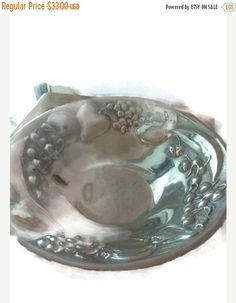 Summer Sale Vintage solid pewter bowl large fruit by EMTWTT