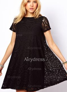 Dress - $13.32 - Polyester Solid Short Sleeve Above Knee Casual Dresses (1955149650)