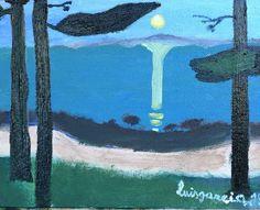 3.- Claro de luna, Munch por luisgarcia (18x14)