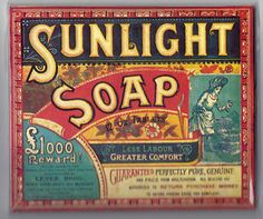 Sunlight Soap, i used to live in the house lord leverhume ( sunlight soap man..) built! v cool