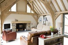 Barn room in new house in Cornwall