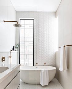 Scandinavian Style Home Design ( Bathtub Shower Combo, Window In Shower, Rain Shower Bathroom, Bath Window, Bathroom Tubs, Diy Shower, Bathroom Goals, Small Bathroom, Master Bathroom