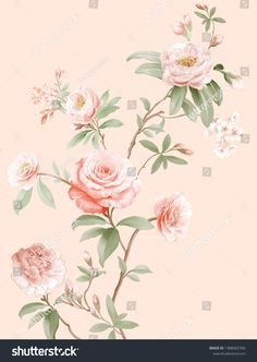 Decoupage, Birth Flowers, Apple Logo, Egyptian Art, Illustration, Spring Summer, Pastel, Watercolor, Nature