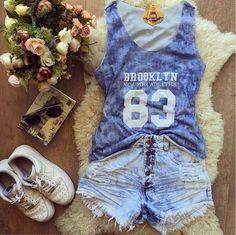 ☀️Tecido super leve e estampa linda❤️Compre pelo site www.lookstore.com.br - Código - VLKG2FLSQ 49,90Tamanho U - veste 36 ao 40 (P e M) - NÃO VENDEMOS O SHORT #compreja #verao #regata #linda #top #perfeita #moda #fashion #lookstore