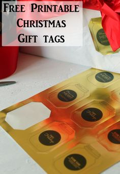 Christmas gift tag printables.