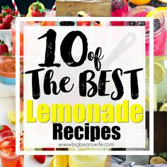 10 of The BEST Lemonade Recipes - What's more refreshing that a tall glass of ice cold lemonade on a steamy, hot summer day! I've found 10 of the BEST lemonade recipes to help you cool down this summer! 10 of The BEST Lemonade Recipes - What Good Lemonade Recipe, Best Lemonade, Lemon Pudding Cake, Southern Comfort, Disney Food, Summer Days, Favorite Recipes, Ice, Good Things