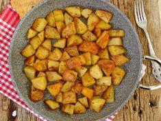 Tavada Baharatlı Patates Kızartması Nasıl Yapılır? Sweet Potato, Food And Drink, Pizza, Potatoes, Vegetables, Recipes, Work Lunches, Turkish Recipes, Cooking