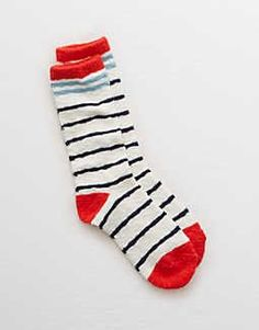 Aerie Striped Crew Socks, Soft Muslin | Aerie for American Eagle