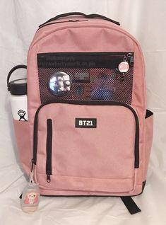 Mochila Kpop, Mochila Do Bts, Mochila Adidas, Cute School Bags, Cute School Supplies, Stylish Backpacks, Cute Backpacks, Girl Backpacks, Mochila Jansport